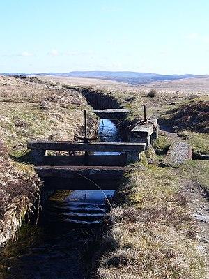 Leat - Devonport leat showing sluice gates