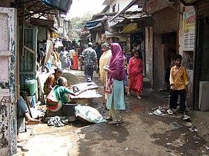 Slum upgrading - Image: Dharavi Slum in Mumbai