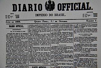 Diário Oficial da União - Image: Diário Oficial da União (Brazil)
