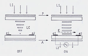 IPS panel -  Schematic diagram IPS LC display