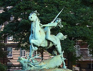 Østbanegade - Diana on Horseback by  Carl J. Bonnesen