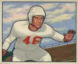 Dick Hensley - Hensley on a 1950 Bowman football card
