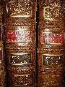 Dictionnaire de l'Académie française, en 2 volumes