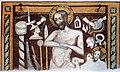 Die Marienkirche in Bad Mergentheim wurde aufwändig restauriert. Fresko des Fraters Rudolfus frühes 14. Jahrhundert.jpg