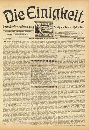 Free Association of German Trade Unions - Die Einigkeit, organ of the FVdG