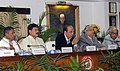 Dinesh Trivedi addressing a press conference on announcing the commencement of more new trains of Railway Budget 2011-12, in New Delhi. The Ministers of State for Railways.jpg