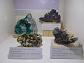 Dioptase, Cuprite, Pyrite and Sphalerite in HNHM. - Ludovika Sq 2-6., District VIII., Budapest.JPG