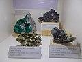 Dioptase, Cuprite, Pyrite and Sphalerite in HNHM. - Ludovika Sq 2-6., District VIII., Budapest.JPG