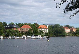 Diplomatstaden - Diplomatstaden, view from Djurgården, August 2008.