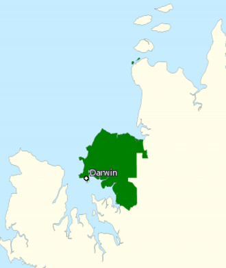 Division of Solomon - Division of Solomon in the Northern Territory, as of the 2016 federal election.