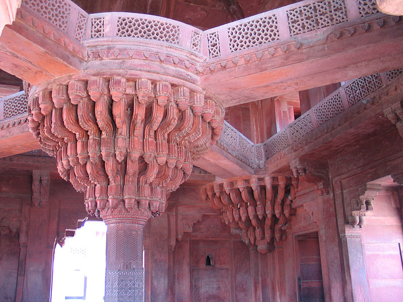 Central pillar at diwan i khas fatehpur sikri male for Diwan models india