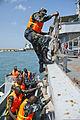 Djiboutian marines participate in a ship boarding scenario during exercise Cutlass Express 2013 at the Port of Djibouti in Djibouti, Djibouti, Nov. 7, 2013 131107-F-NJ596-069.jpg