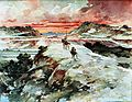 """Don Quijote, Luis Tasso, (1894?) """"...Y guiando Sancho sobre su asno, se entraron por una parte de Sierra Morena"""". (5789901174).jpg"""