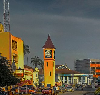 Kumasi - One of the main streets of the central business district (Adum)