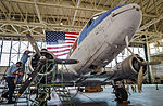 Douglas C-47 under restoration at the Pacific Aviation Museum 2013.JPG