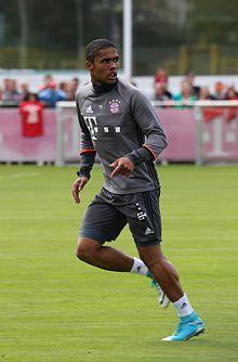 Douglas Costa in allenamento al Bayern Monaco nel 2017