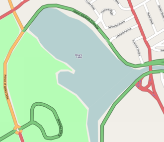 Dow's Lake - Map of Dow's Lake and adjacent area.