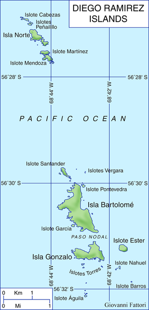 Diego Ramírez Islands - Map of Diego Ramirez Islands