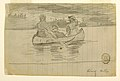 Drawing, Three Men in a Canoe, Il Manigne, Quebec, August 26, 189. (CH 18175135).jpg
