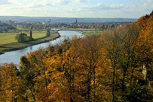 Dresden Elbe Valley - Elbe Valley with Waldschlösschen Bridge