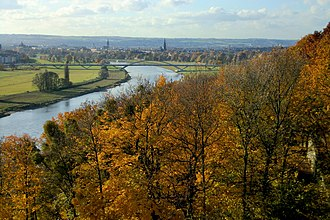 Dresden Elbe Valley - Elbe Valley with Waldschlösschen Bridge