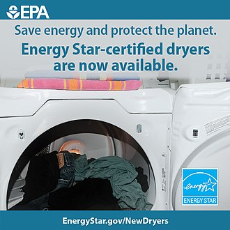 Energy Star - 2015 advertisement promoting Energy Star-certified clothes dryers