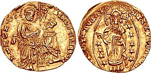 Dorino I Gattilusio - Gold coin in imitation of the Venetian ducat, struck on Dorino's name in Old Phocaea