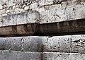 Duomo di isernia, esterno, podio a doppio cuscino del tempio italico precedente, III secolo ac. 03.jpg