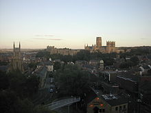 Durham Cathedral from the train viaduct.jpg