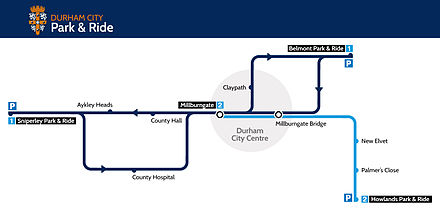 Durham City Park and Ride Map Durham City Park and Ride Map.jpg