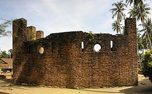 Dutch Fort - View of the Dutch Fort towards the ocean