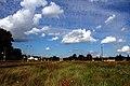 Dworzec kolejowy w Bartoszycach. Tory ku granicy państwa. A na niebie cirrocumulusy. - panoramio.jpg