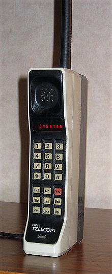 first motorola cell phone. a dynatac 8000x (first commercially available mobile phone from 1984) first motorola cell o