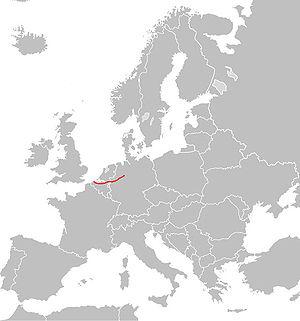 European route E34 - Image: E34 route