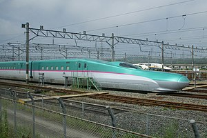 E5 Series Shinkansen - Pre-production set S11 at Sendai General Depot, July 2009