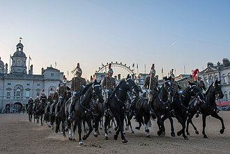 Household Cavalry Mounted Regiment - The Queen's escort for the State Opening of Parliament is generally provided by the HCMR.