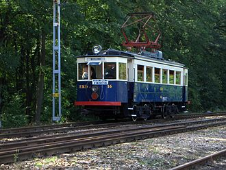English Electric - Preserved 1927 EN80 English Electric tram, the last example of a fleet of 20 once used by the Warsaw Commuter Railway