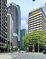 Eagle Street, Mooney Memorial Fountain, Brisbane in February 2020.jpg