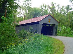 Eakin Mill Covered Bridge, a historic site in the township
