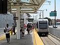 East LA-bound train at Little Tokyo Arts District station, July 2017.JPG