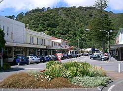 Photograph of Rimu Street, the main street of Eastbourne
