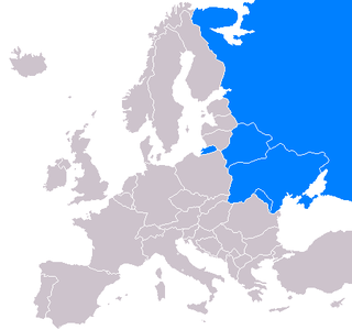 eastern part of the European continent