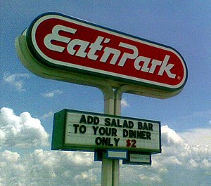Eat'n Park - An Eat'n Park marquee.