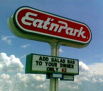 Eat'n Park - An Eat'n Park marquee pylon sign.