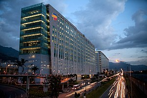 Edificio Bancolombia - luces
