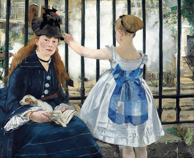 En 'El ferrocarril' (Édouard Manet, 1873) las protagonistas son la pintora impresionista Victorine Meurent, y la hija del vecino de Manet, Alphonse Hirsch - Fuente: Wikipedia.-