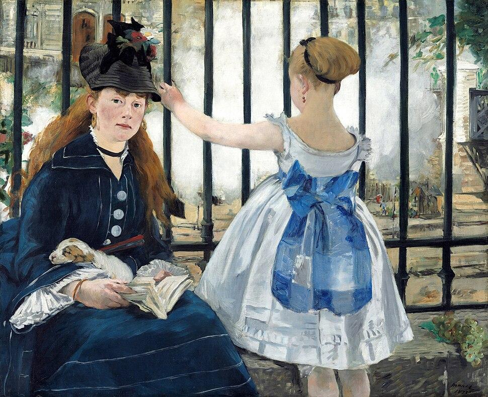 Edouard Manet - Le Chemin de fer - Google Art Project