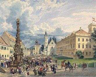 Eduard Gurk - Image: Eduard Gurk Der Kaiserbesuch in Teplitz Schönau 1835 36