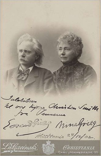 Edvard Grieg -  Edvard Grieg and Nina Hagerup (Grieg's wife and first cousin) in 1899