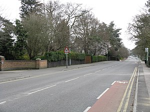 A606 road - Melton Road in Edwalton